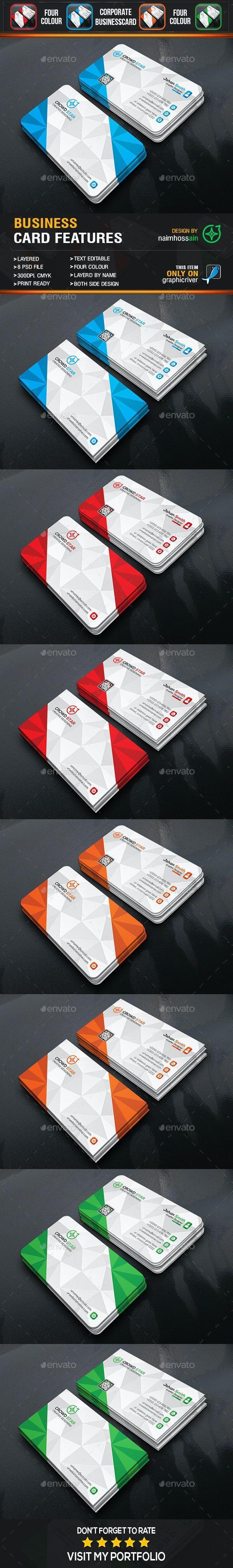 Corporate 3D Business Card - Business Cards Print Templates