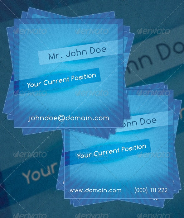 Square Business Card - Creative Business Cards
