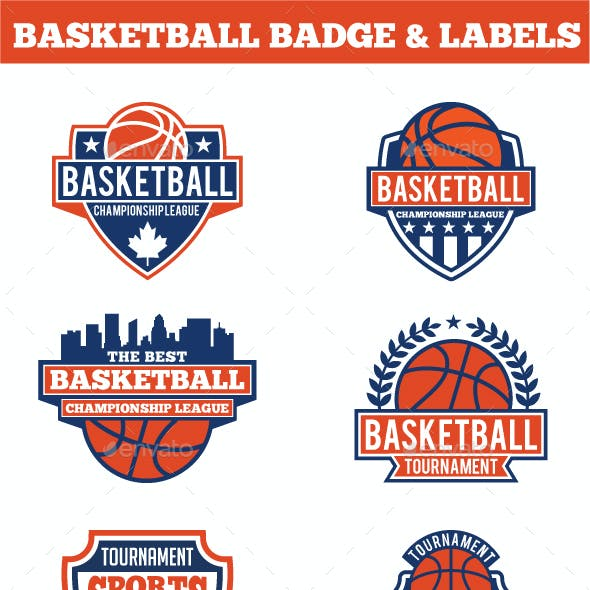 Basketball  Badges & Stickers Vol1