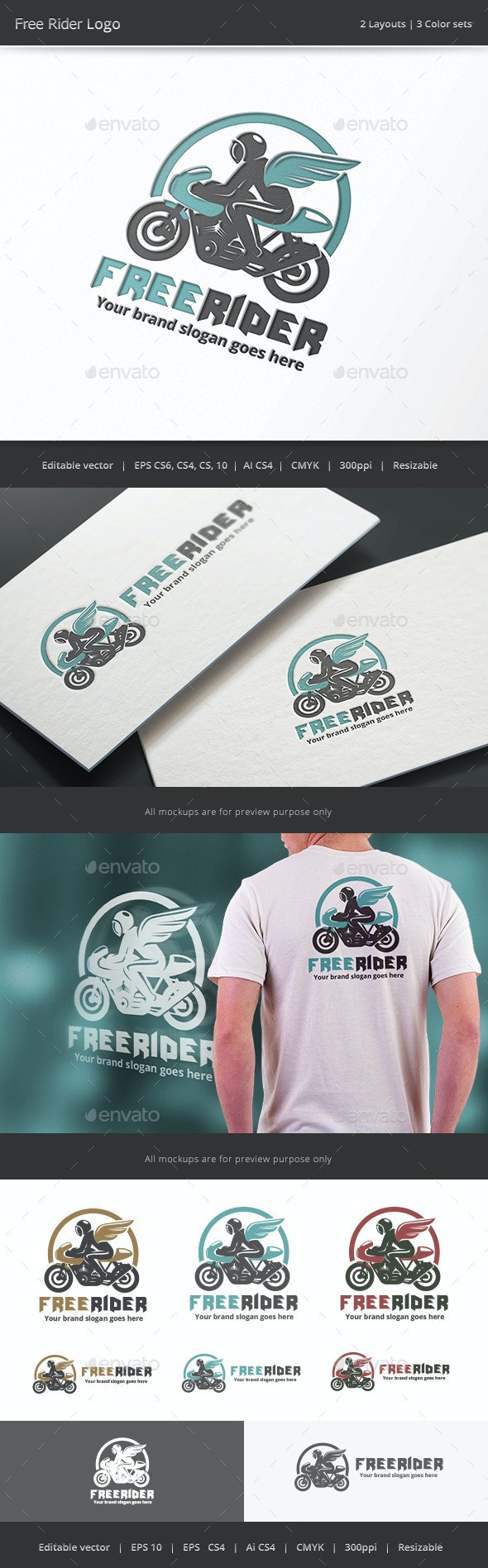 Freedom Rider Logo - Vector Abstract