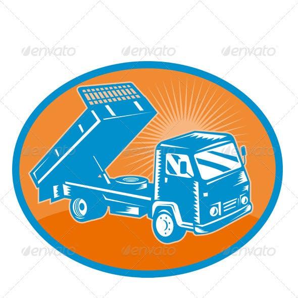 Dump Truck Tipper Retro Style