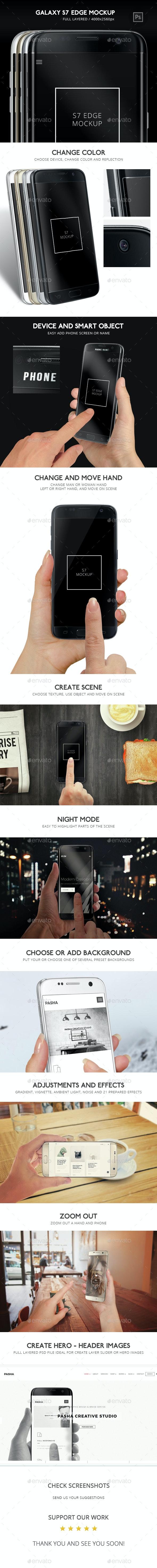 Galaxy S7 Edge Mockup - Mobile Displays