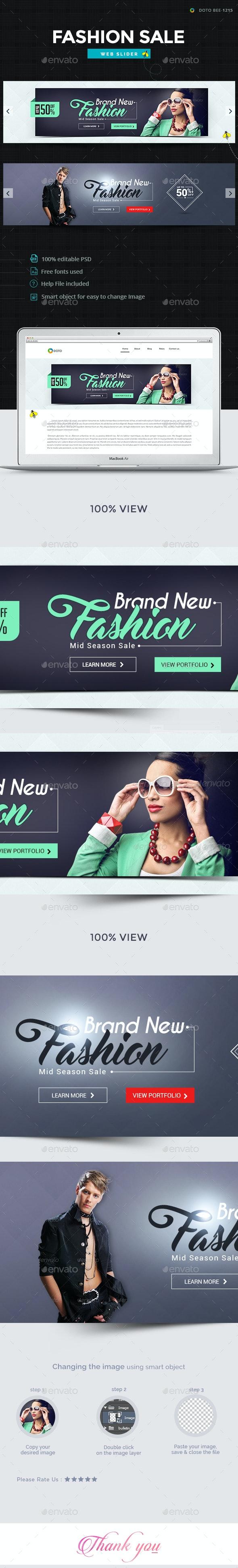 Fashion Sale Sliders - 2 Designs - Sliders & Features Web Elements