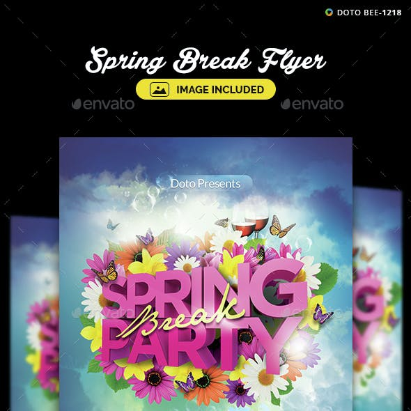 Spring Flyer Template - Image Included