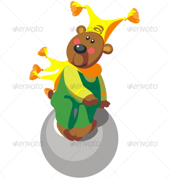 Bear with ball color 11 - Seasons/Holidays Conceptual