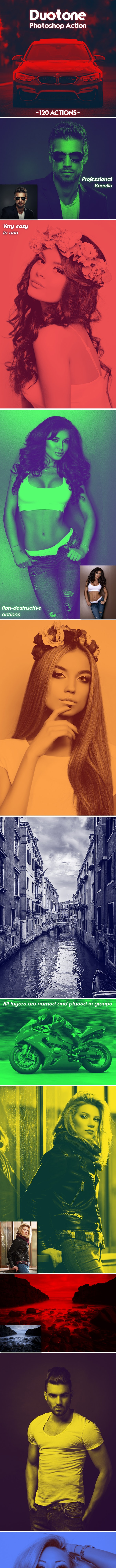120 Duotone Photoshop Actions - Photo Effects Actions