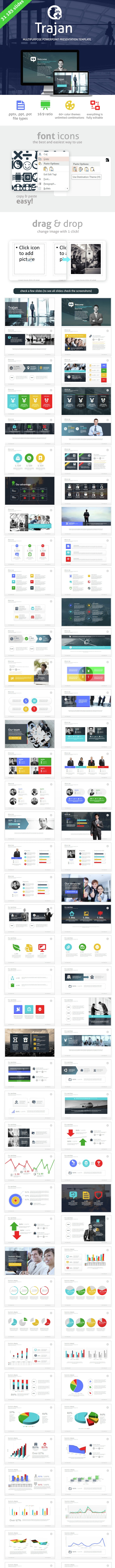 Trajan Powerpoint Presentation Template - Business PowerPoint Templates