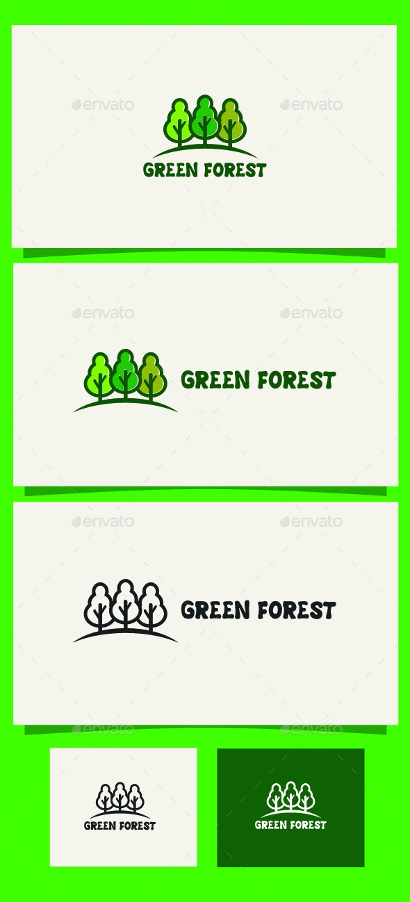 Green Forest - Nature Logo Templates