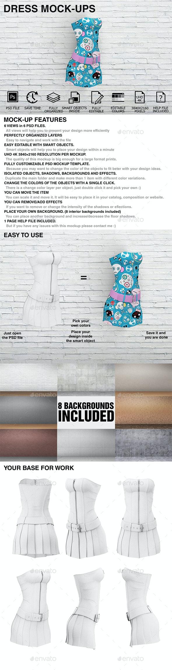 Dress Mockups - Women Clothing Mockups - Miscellaneous Apparel