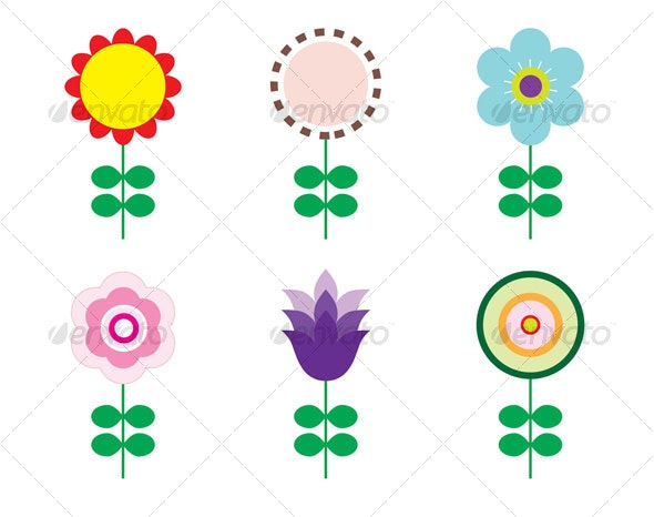 Flower set - Flowers & Plants Nature