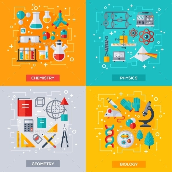 Flat Design Vector Concepts Education and Science - Miscellaneous Conceptual