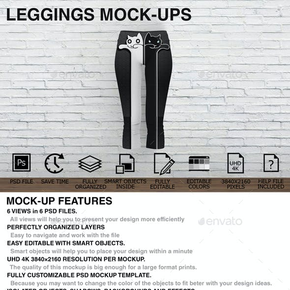 Leggings Mockups - Women Clothing