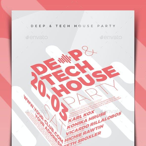 Deep & Tech House Flyer