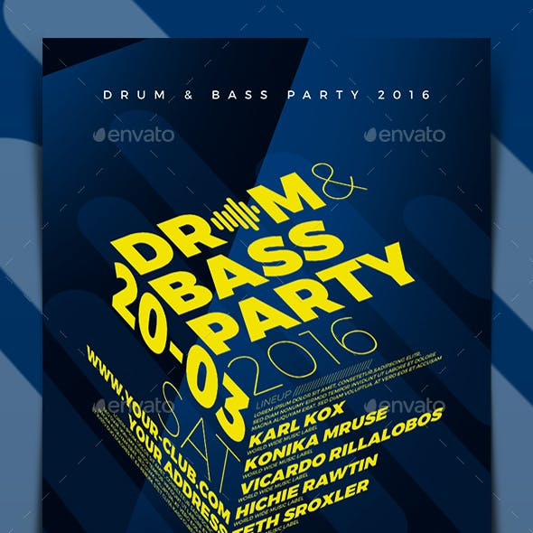 Drum & Bass Party Flyer