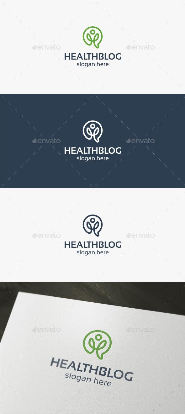 Health Blog Logo - Symbols Logo Templates