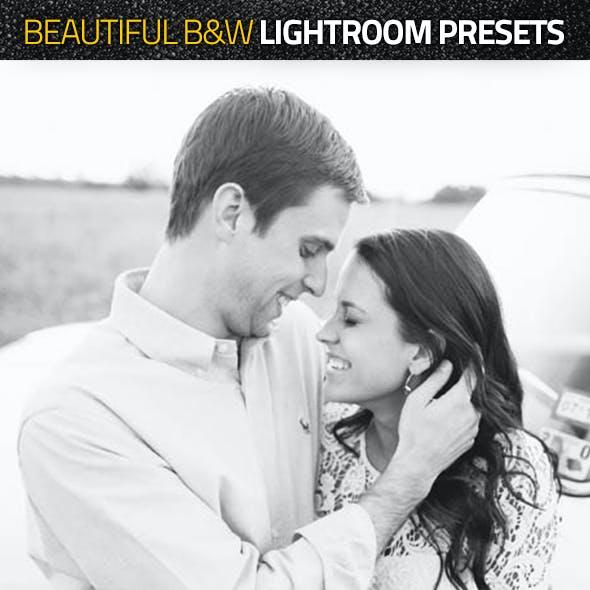 Beautiful Blackwhite Lightroom Presets