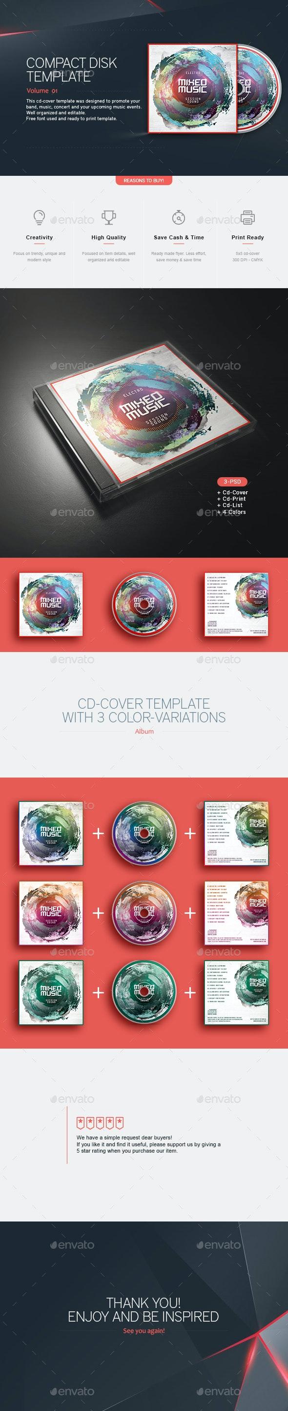 Mixed Music - CD Template - CD & DVD Artwork Print Templates