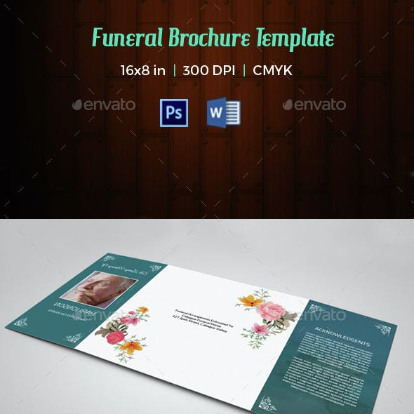 Funeral Program Template-V44 | MS Word & Photoshop Template