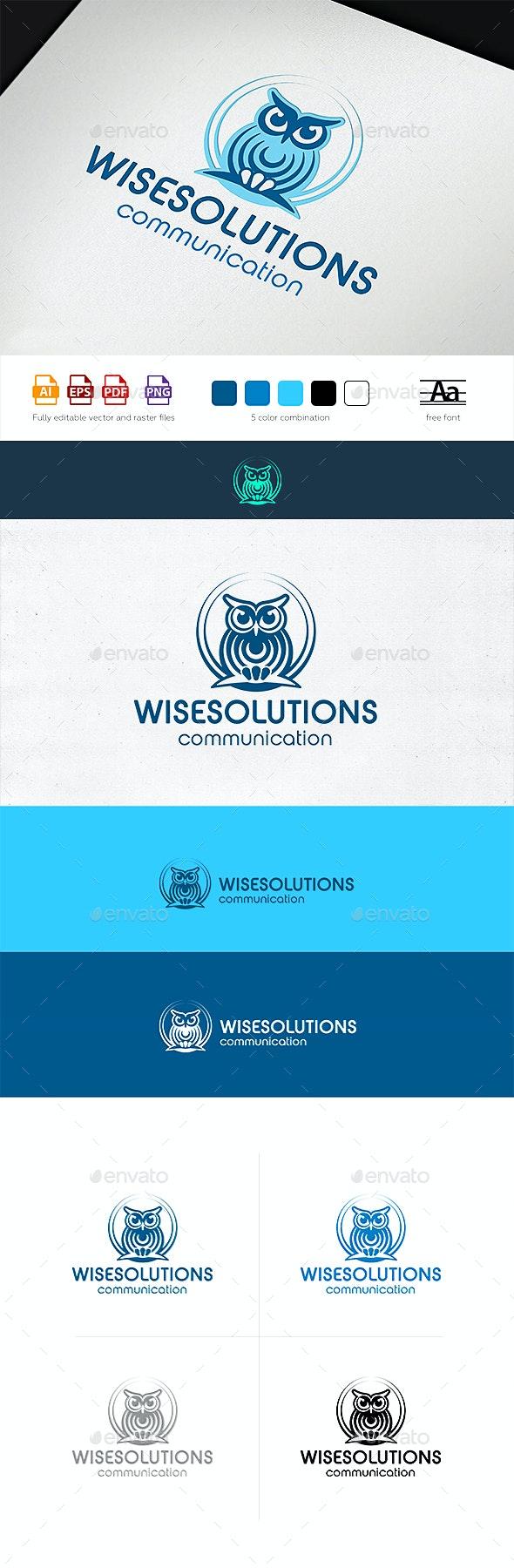 WiseSolutions Communication Logo Template - Animals Logo Templates
