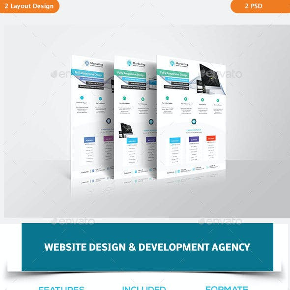 Website Design & Development Agency Flyers