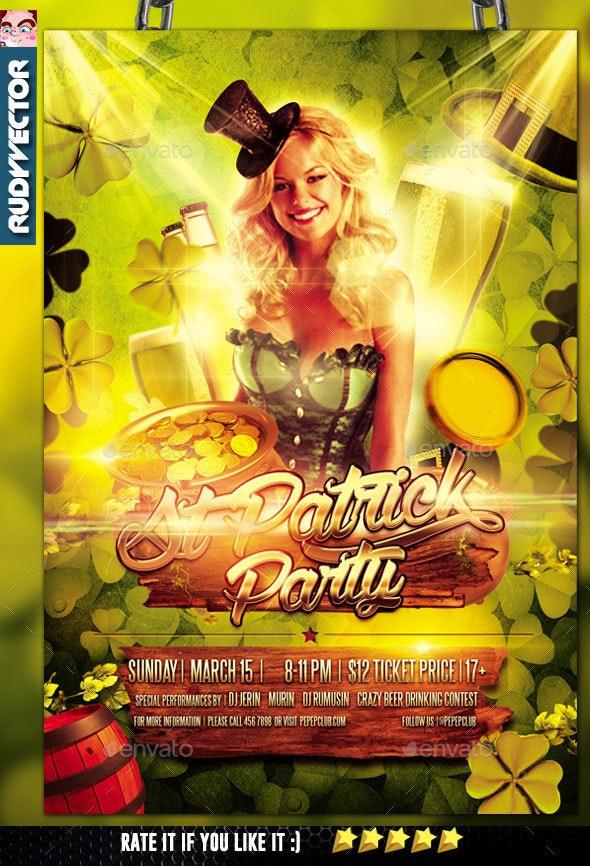 Saint Patrick Party Flyer - Clubs & Parties Events