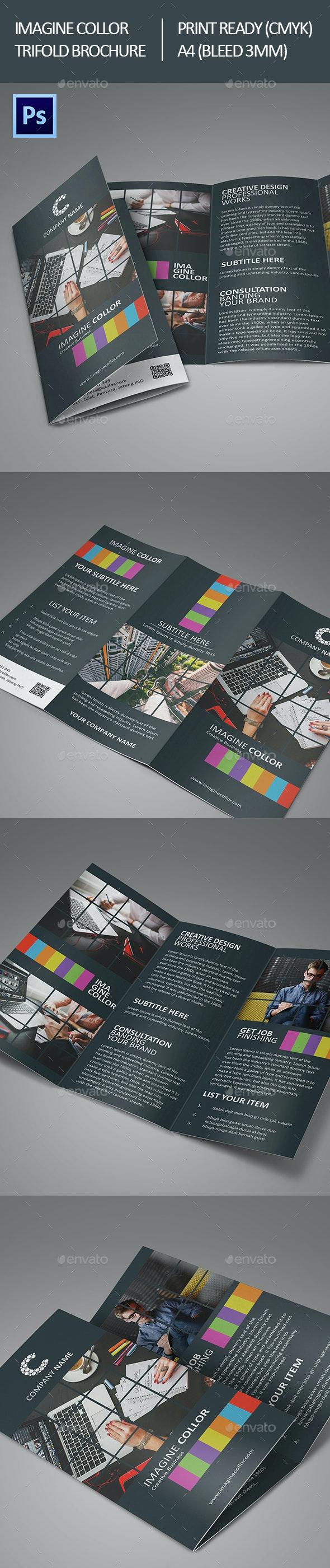 Imagine Collor Trifold Brochure - Corporate Brochures
