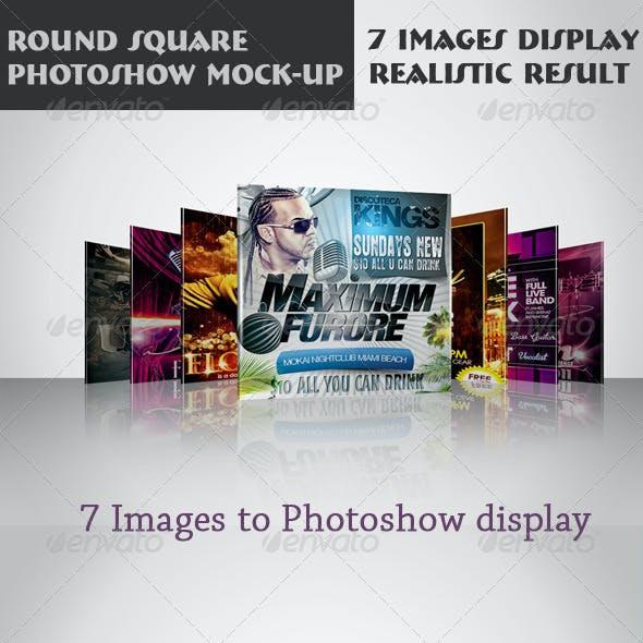 Round Square Photoshow Mock-up
