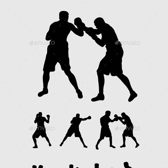 Judo and Boxing Silhouettes