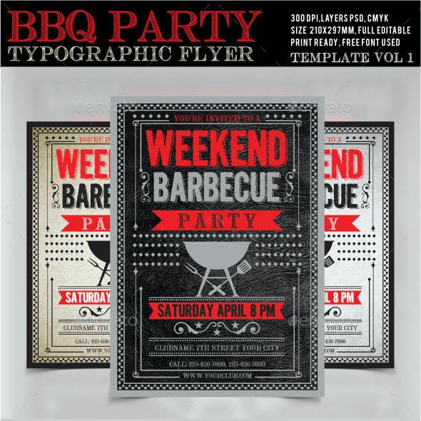 BBQ Weekend Party Flyer /Poster 1