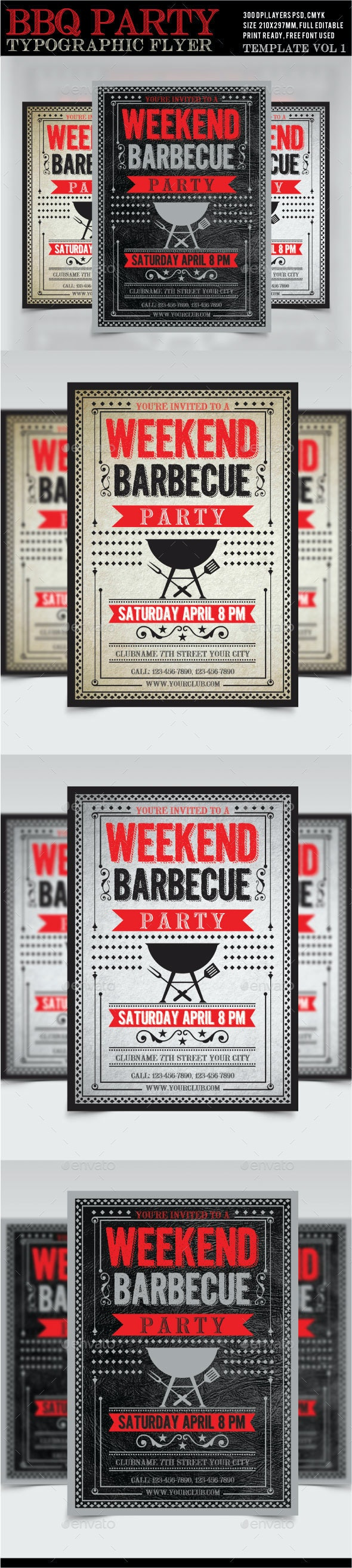 BBQ Weekend Party Flyer /Poster 1 - Restaurant Flyers