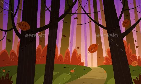 Autumn Forest Trail - Landscapes Nature