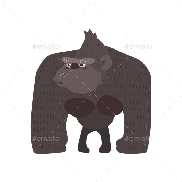 Gaorilla Flat Cartoon Stylized - Animals Characters