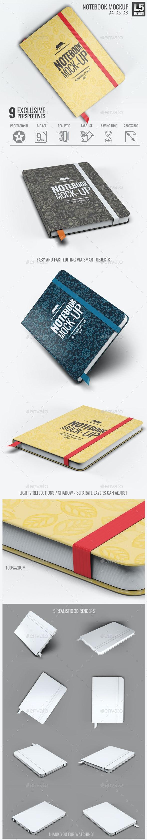 Notebook Mock-Up - Print Product Mock-Ups