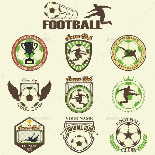 Set of Soccer Football Emblems - Sports/Activity Conceptual
