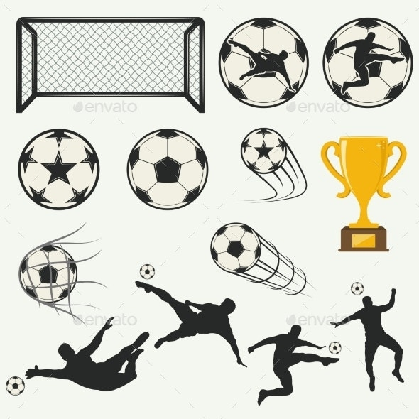 Various Isolated Poses of Soccer Players - Sports/Activity Conceptual