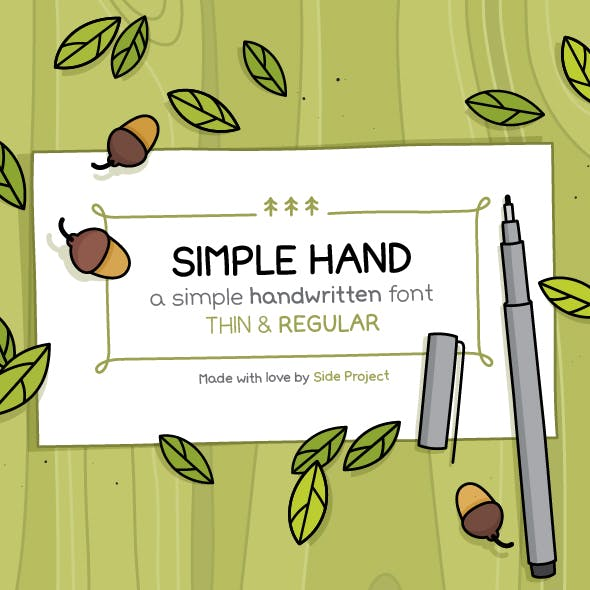 Simple Hand. Regular and Thin