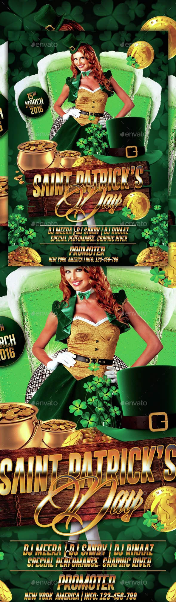 Saint Patrick's Day Party Flyer - Events Flyers