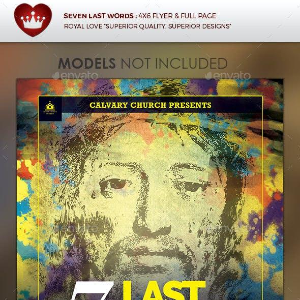 Seven Last Words Church Flyer