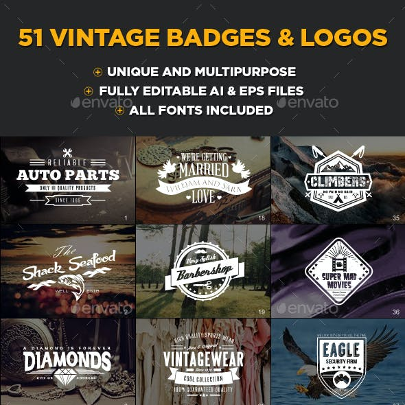 51 Vintage Badges and Logos