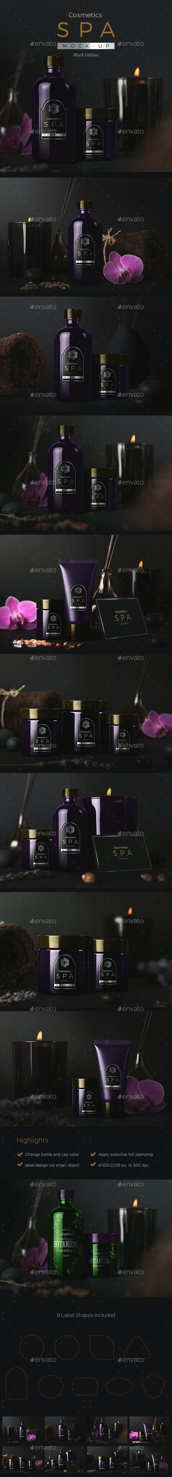 SPA Cosmetics Mock-Up V.2 - Beauty Packaging