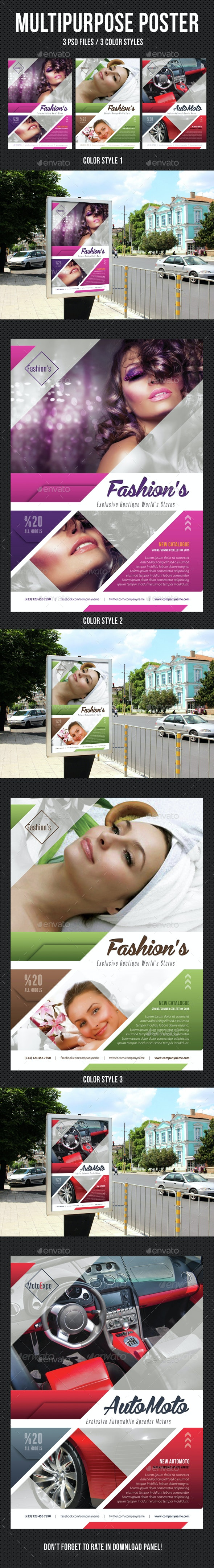Multipurpose Flexible Poster 01 - Signage Print Templates