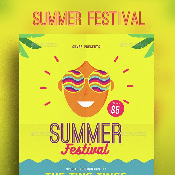 Summer festival flyer by Guuver