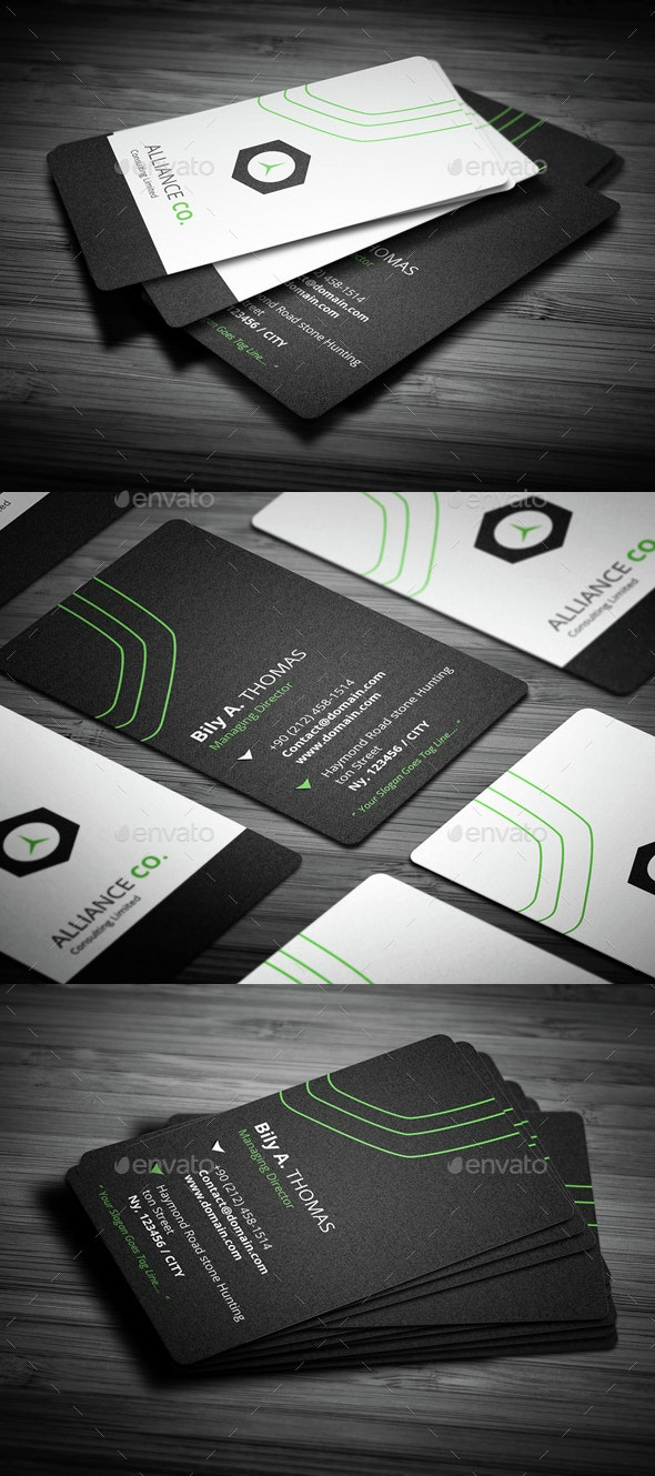 New Rounded Corner Business - Creative Business Cards