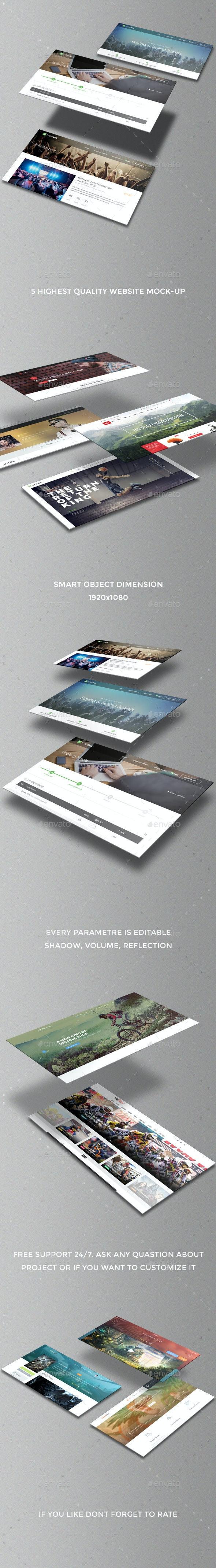 Isometric Website Mock-Ups - Website Displays