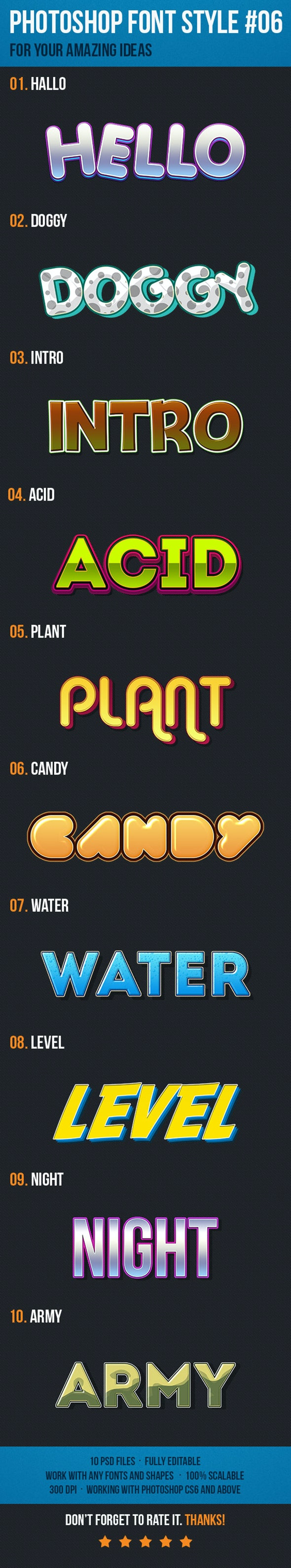 10 Font Style for Game Logo #06 - Text Effects Styles