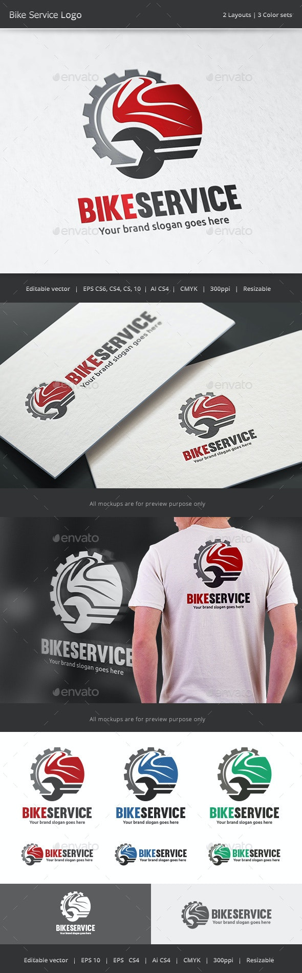 Motorcycle Service Logo - Vector Abstract