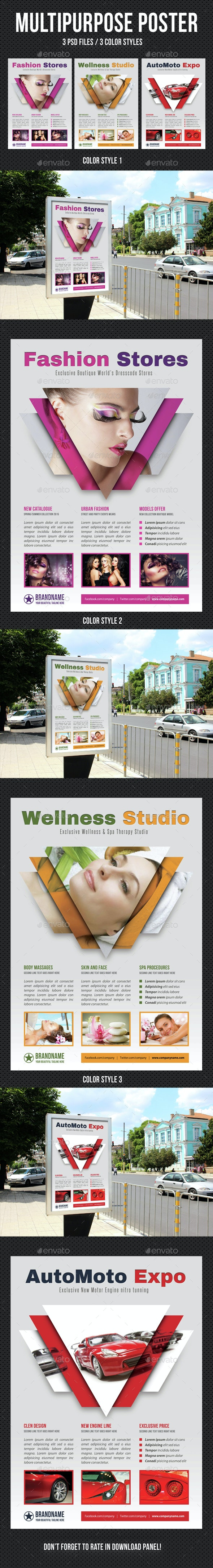 Multipurpose Flexible Poster 03 - Signage Print Templates