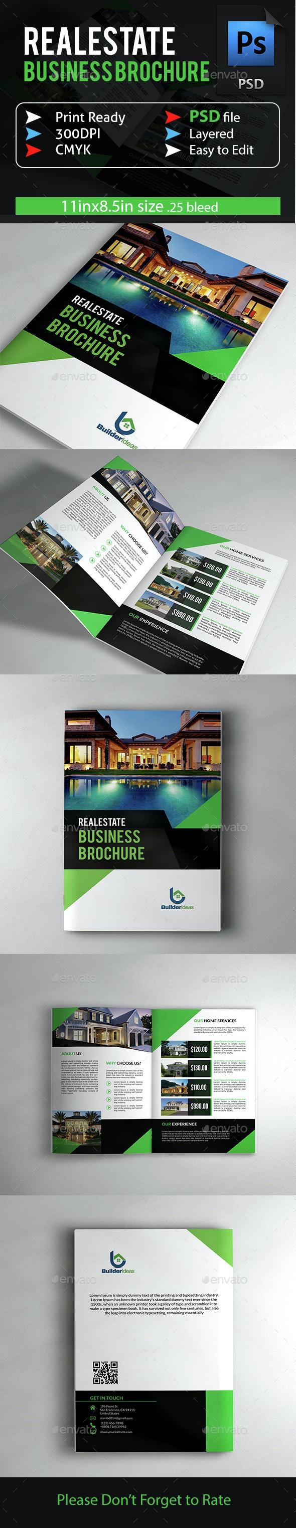 Real Estate Business Brochure - Brochures Print Templates
