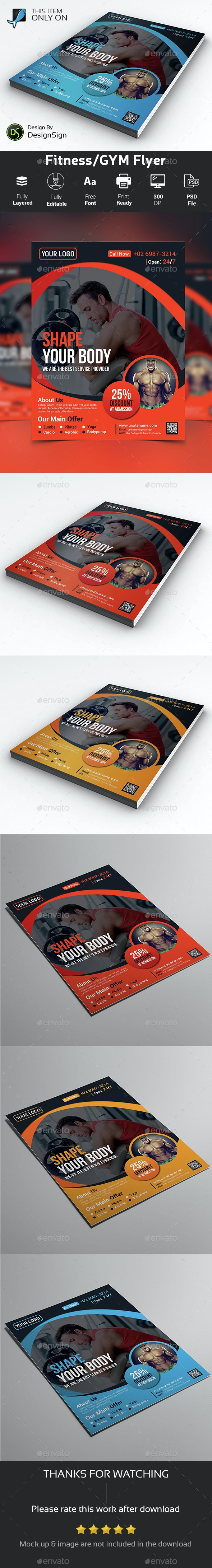 Fitness/GYM Flyer - Sports Events