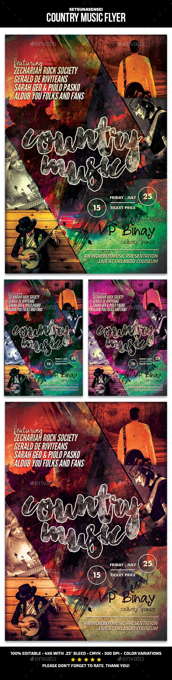 Country Music Flyer - Concerts Events